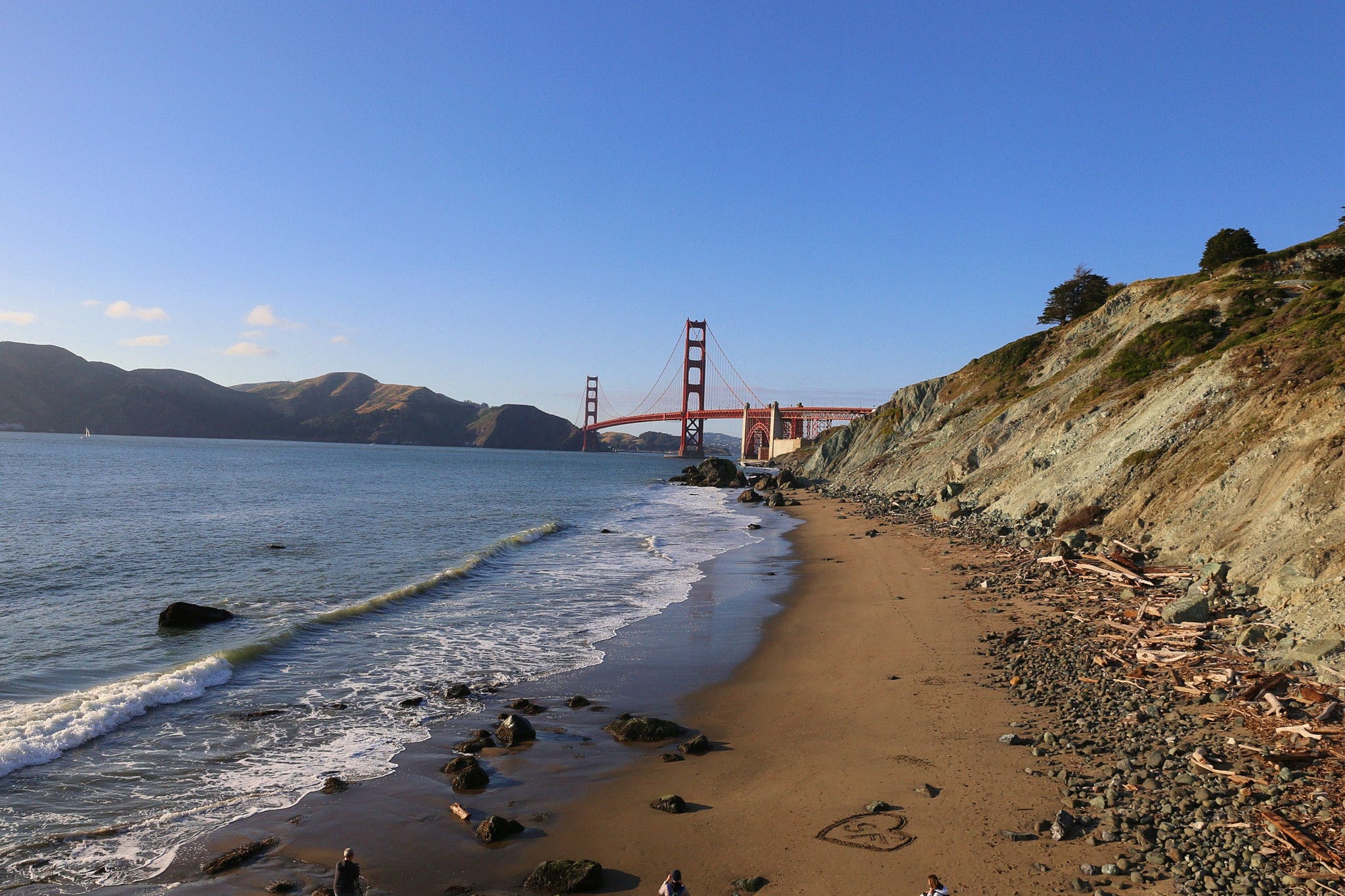 Hike in to Marshall Beach in San Francisco