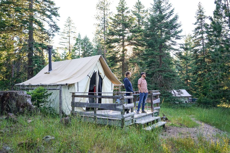Glamping Tent Cabins at Willow-Witt Ranch in Ashland, Oregon 07.29.2020