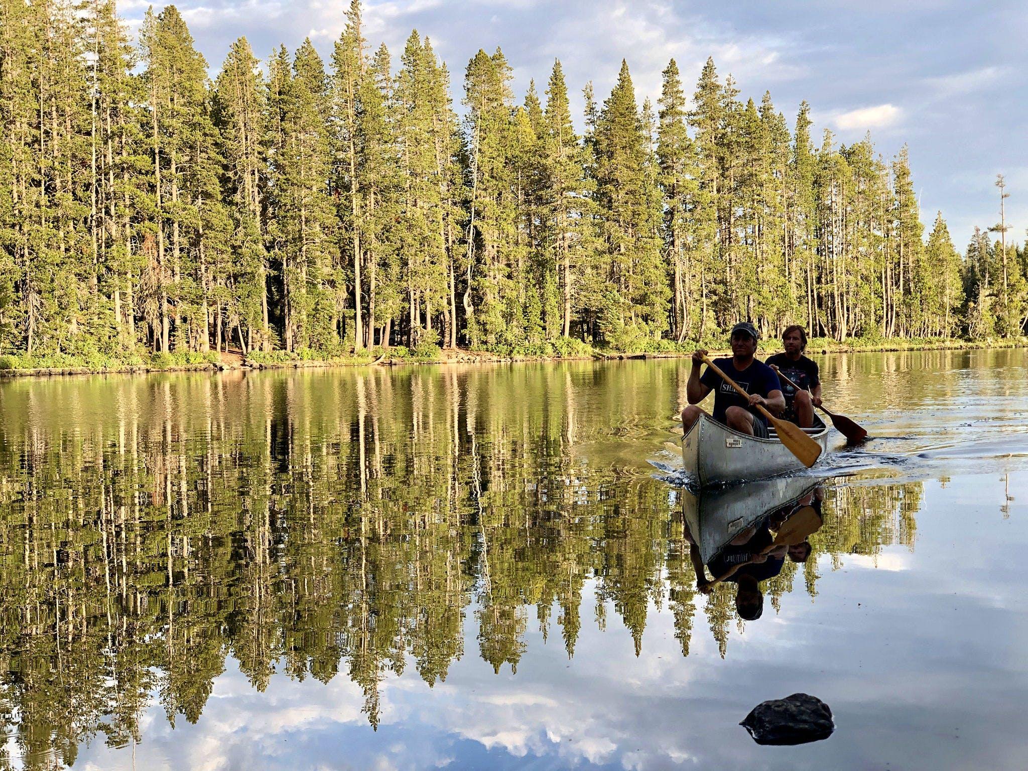 Camp at Goose Lake in the Lakes Basin