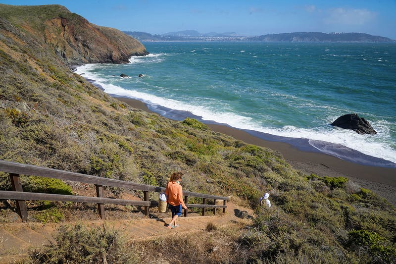 Hike-in to Marin's Black Sands Beach