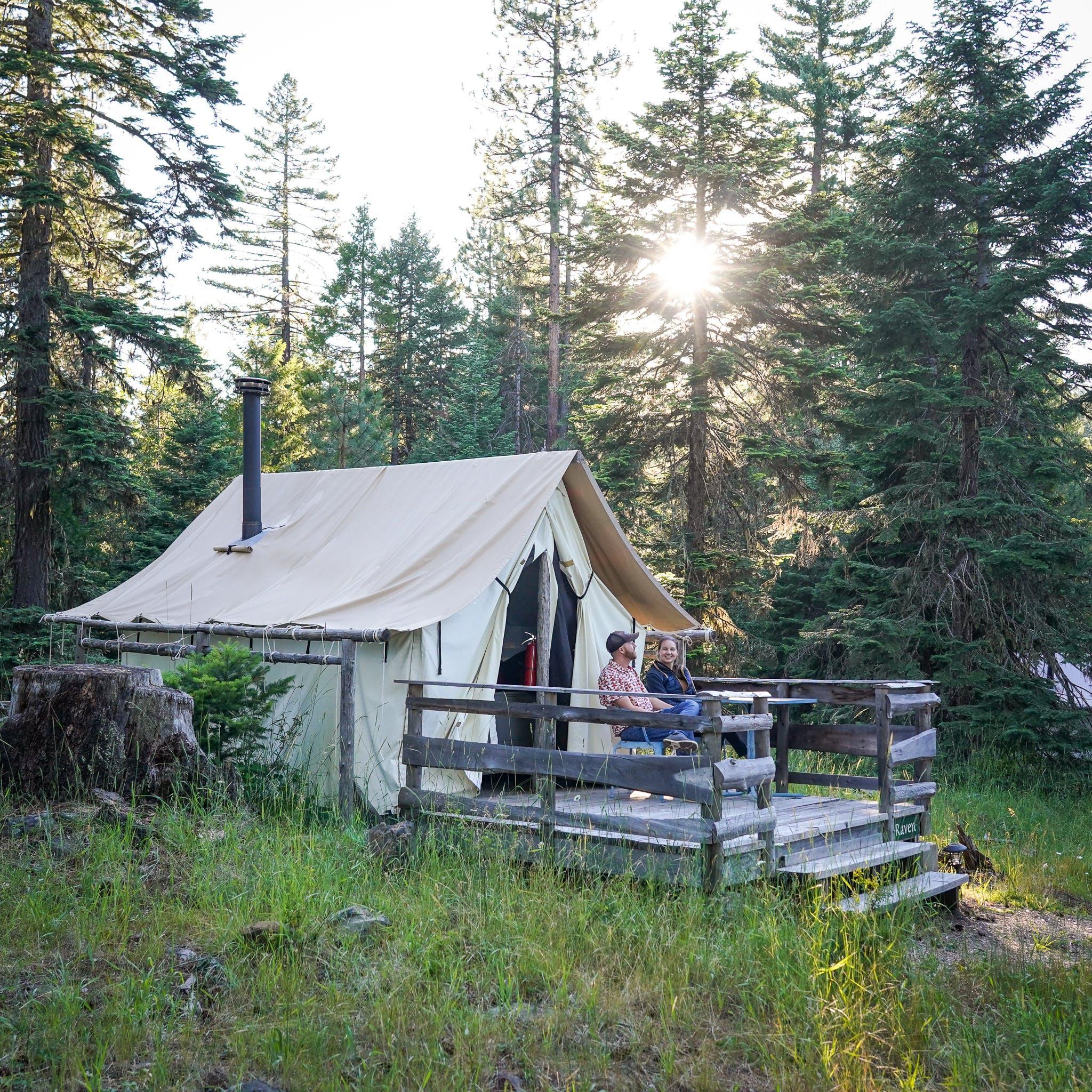 Willow Witt Ranch tent cabin glamping Ashland Oregon