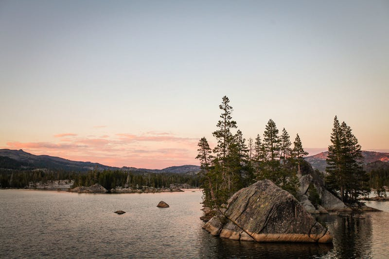 Sierra Nevada Lake Camping California