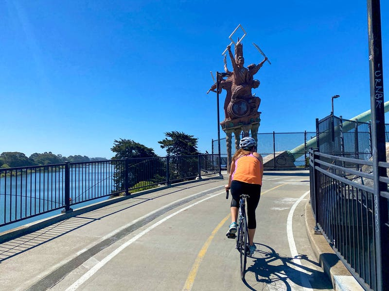Bike from Berkeley to Albany Bulb on the Bay Trail