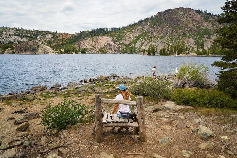 Do the short hike to Long Lake in the Lakes Basin