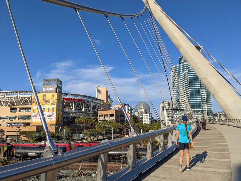 Urban Hike from Cesar Chavez Park to Petco Park in San Diego