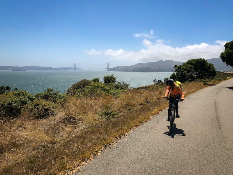 Bicycle Angel Island Perimeter Road San Francisco Bay