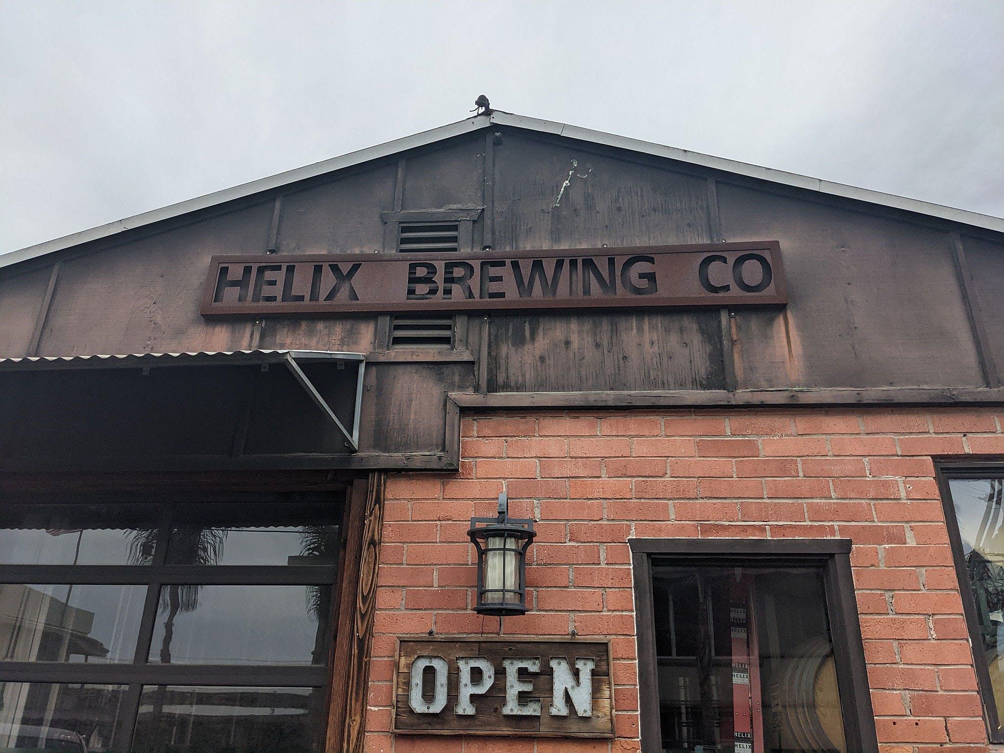 Helix Brewing Co. outdoor brick entranceway