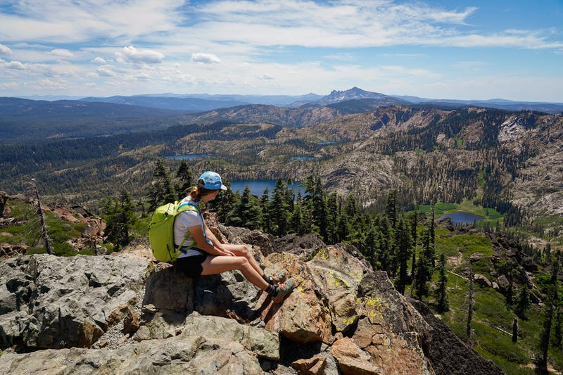 Hike to the Peak of Mount Elwell in the Lakes Basin
