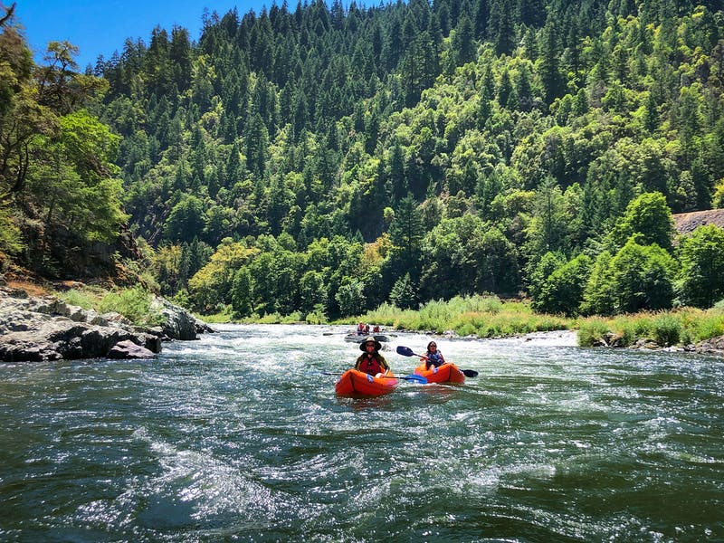 Float an Inflatable Kayak Down the Rogue River in Southern Oregon With Orange Torpedo