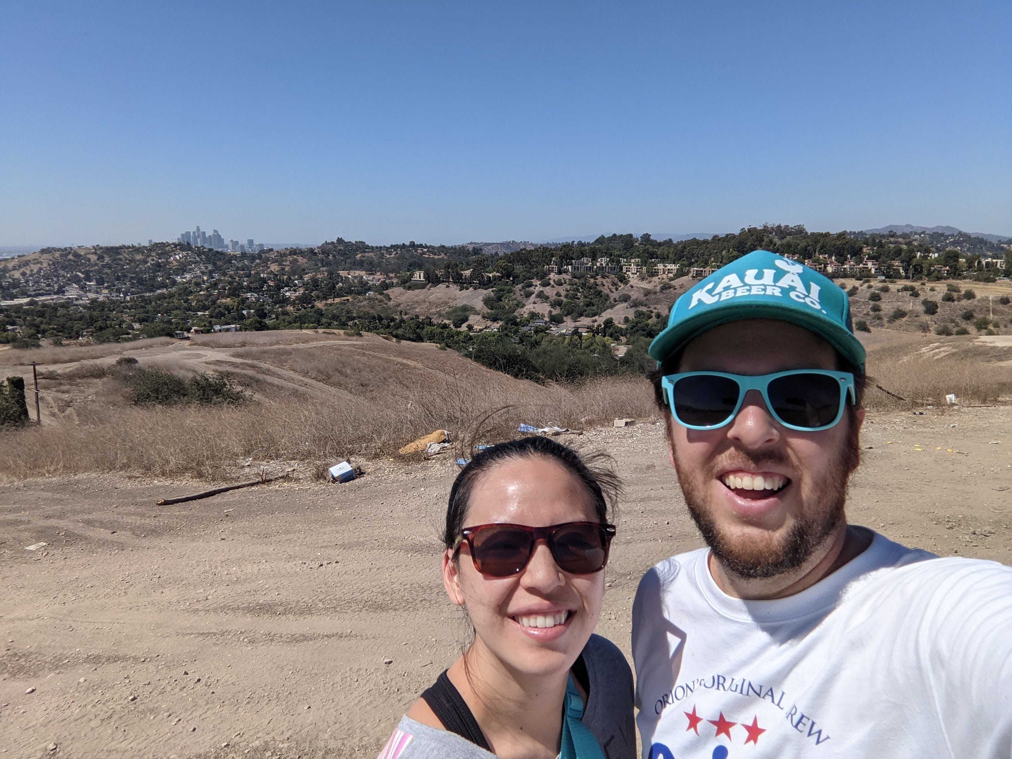 Selfie of a man and woman in sunglasses at Elephant Hill Open Space