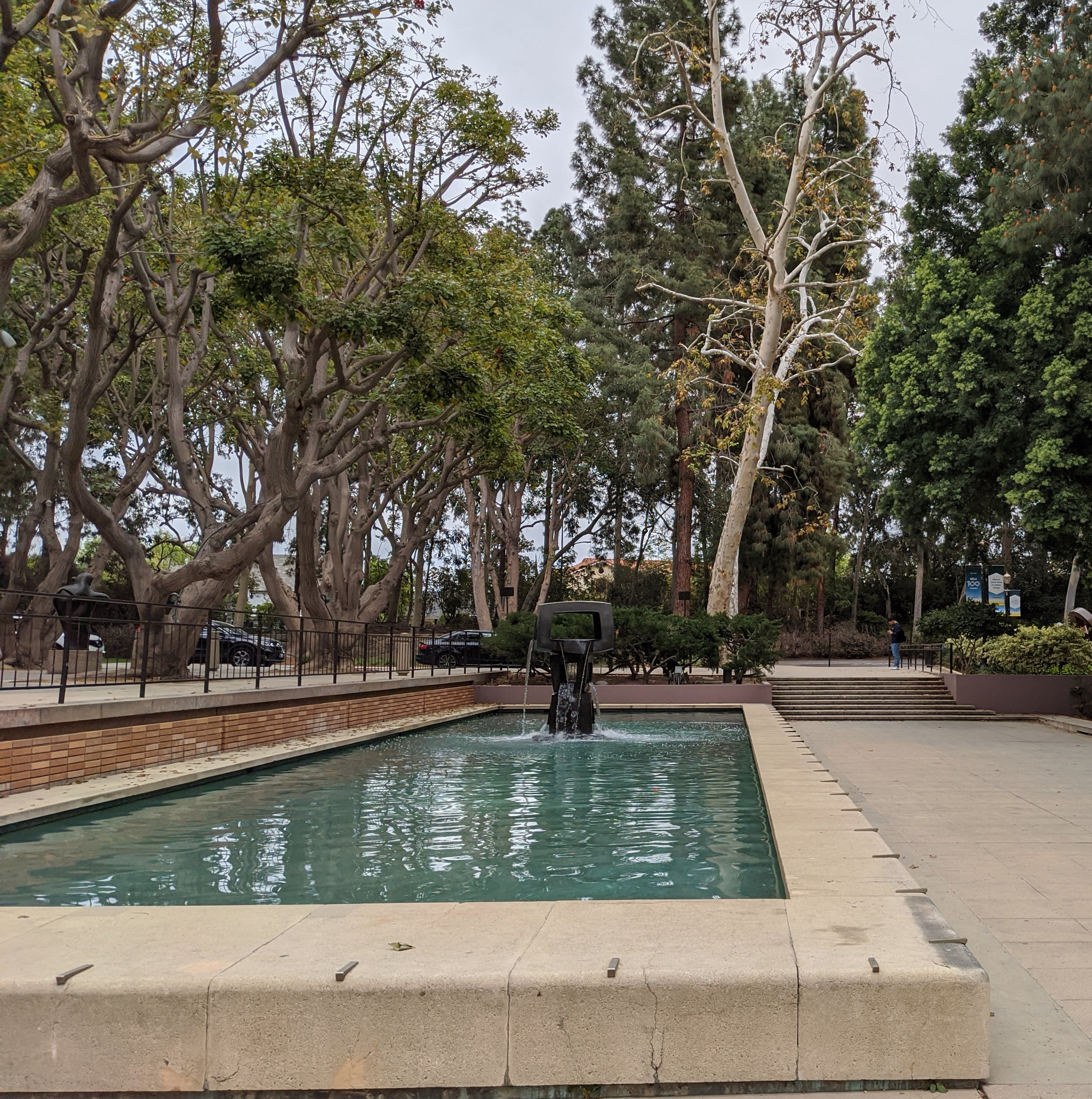 Water feature at UCLA on campus