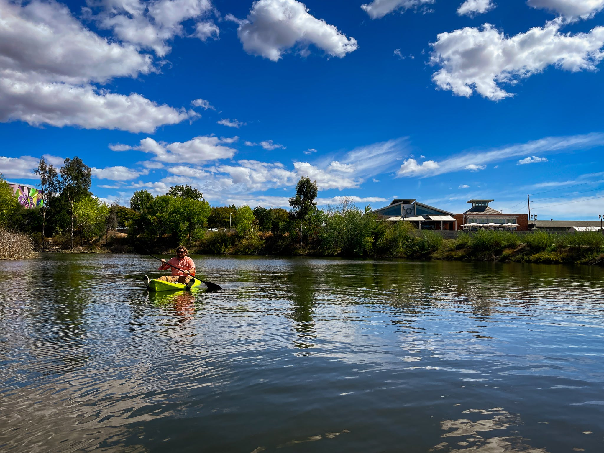 Kayaker on the Napa Valley River