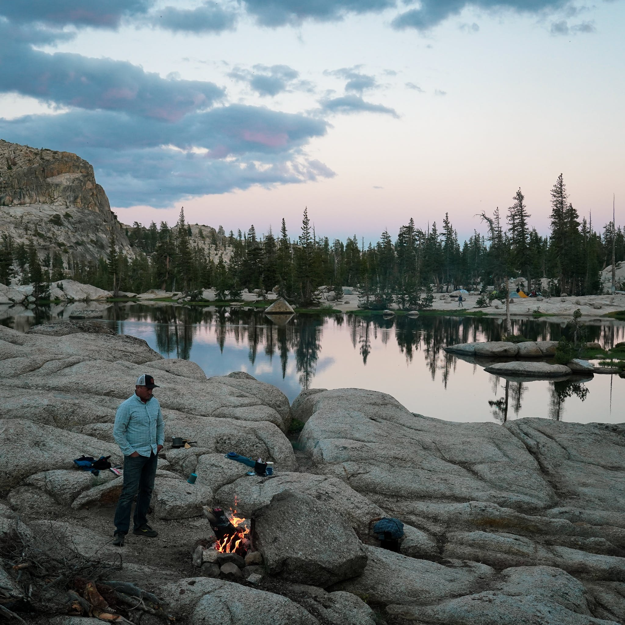 Sunset at Chewing Gum Lake in the Emigrant Wilderness