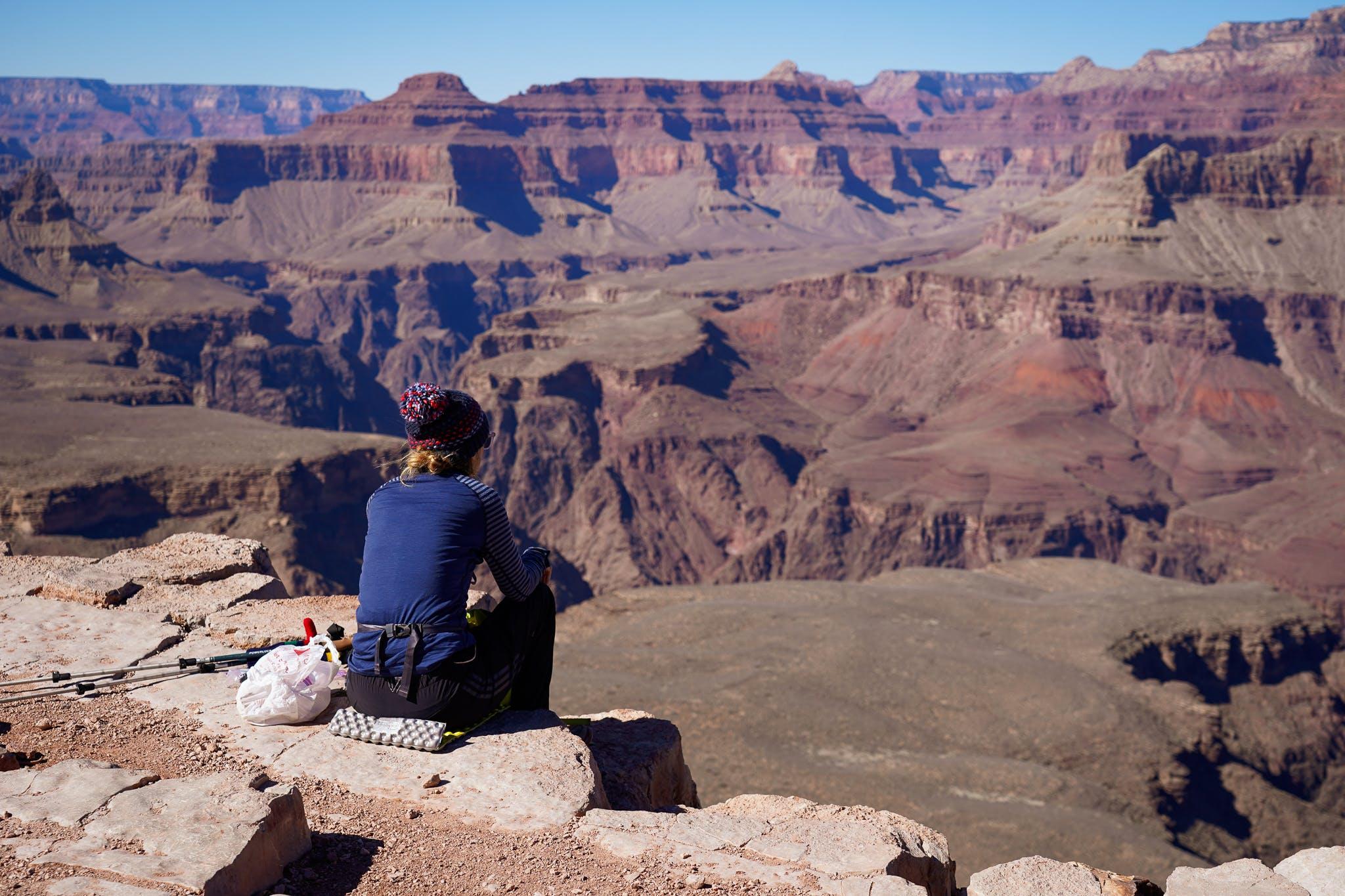 woman at Skeleton Point Grand Canyon