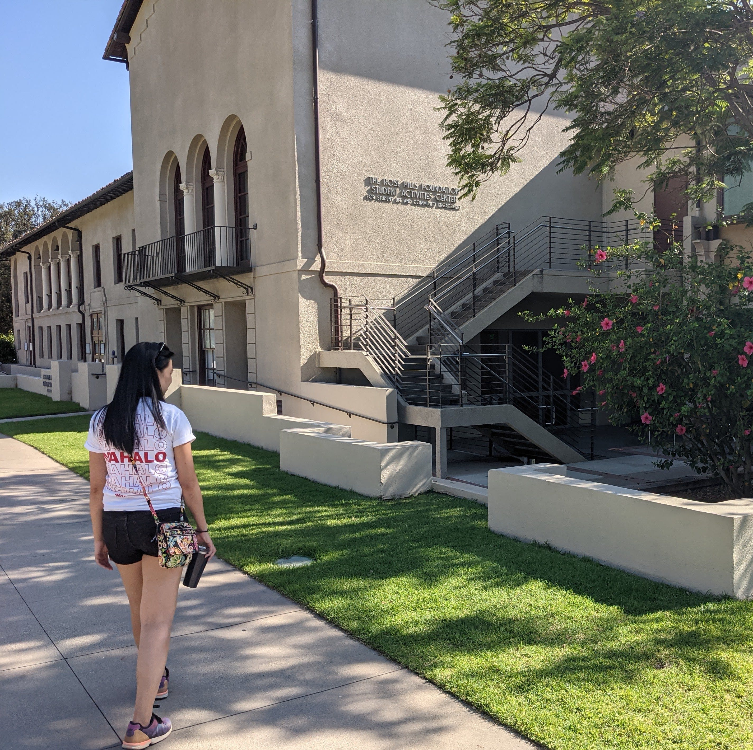 Woman walking at Occidental Campus in Los Angeles