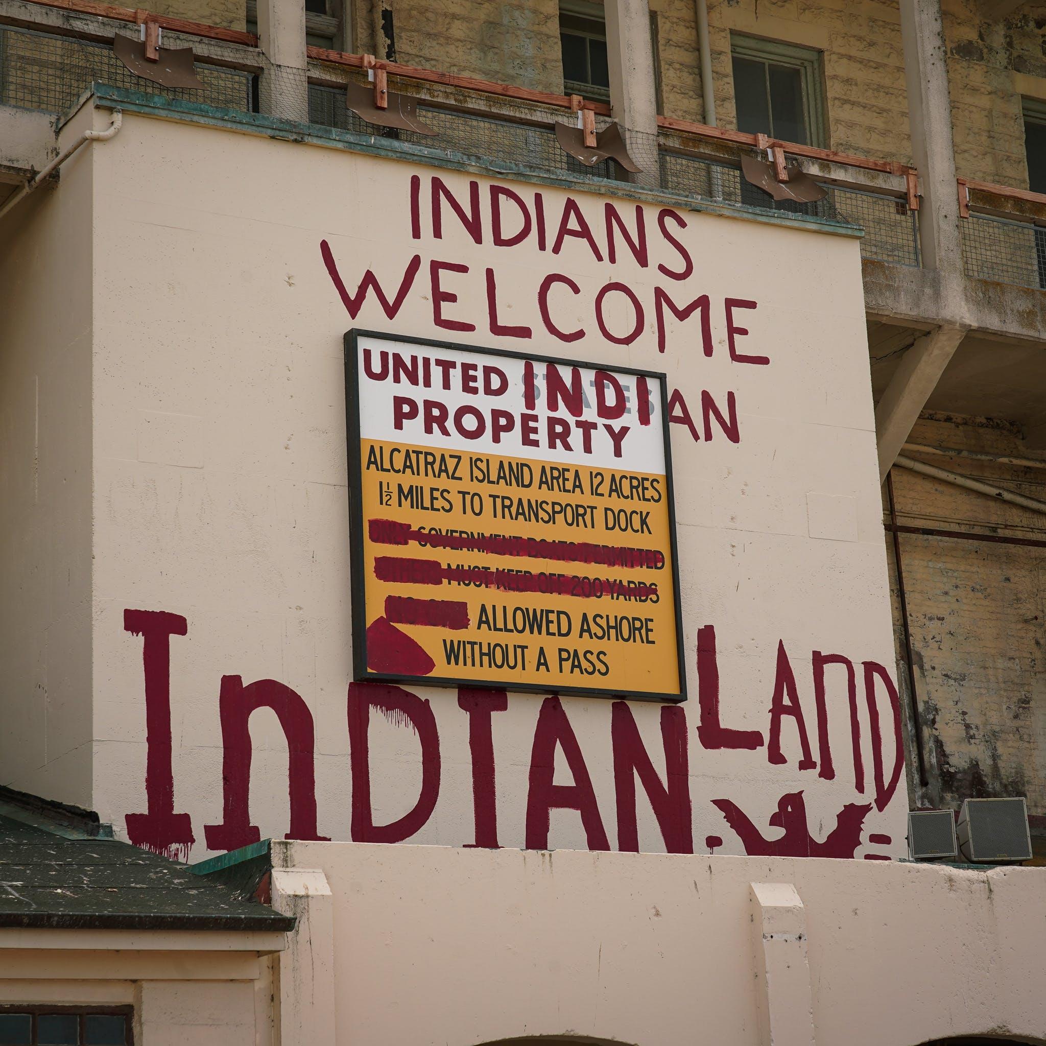 Sign on Alcatraz