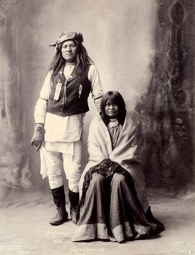 Henry Wilson and his wife, Americans of the Mohave