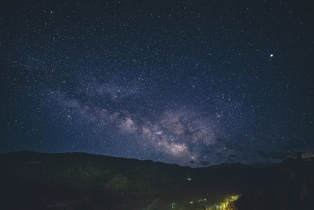 Photograph of the night sky