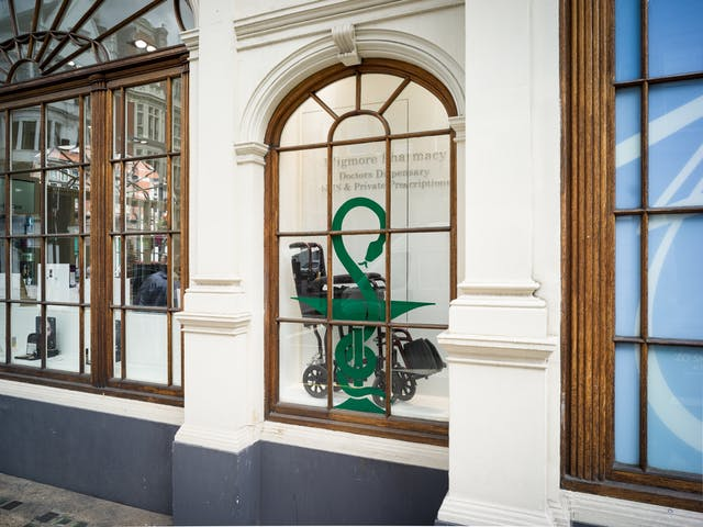 Shopfront for Wigmore Pharmacy, London