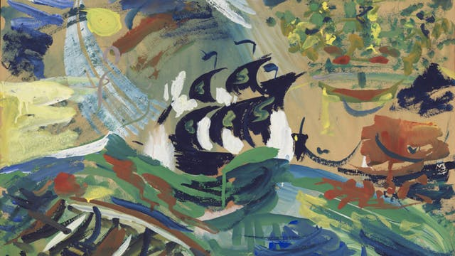 The Shipwreck, watercolour painting by Ron Hampshire, Adamson Collection