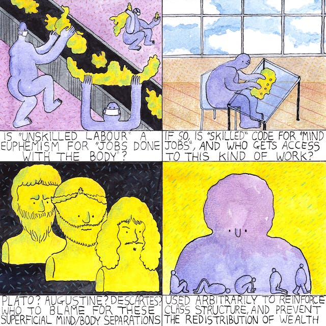 Web comic by Rob Bidder in four frames