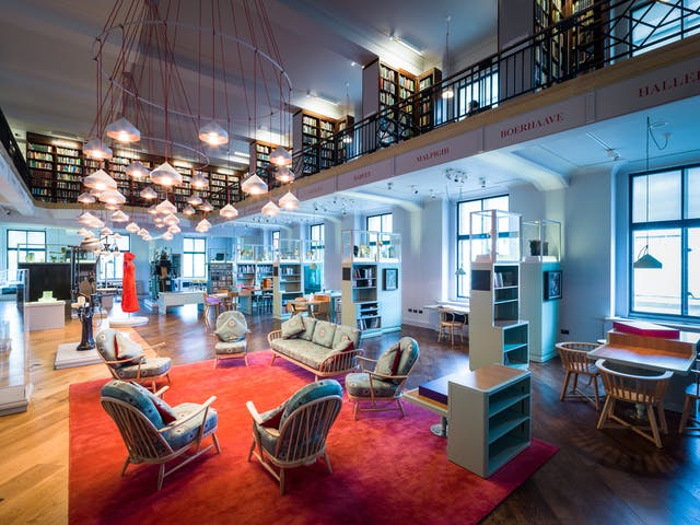 Photograph of the Reading Room at Wellcome Collection.