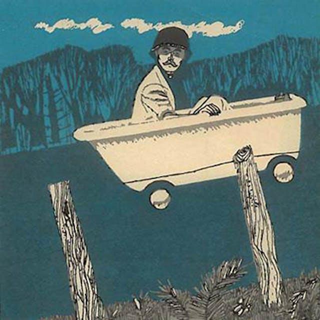 An illustration of a man in a bathtub.