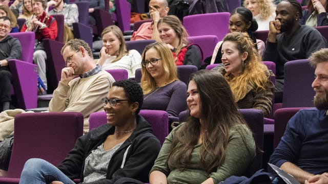 Photograph of the audience in the Henry Wellcome Auditorium at Wellcome Collection.