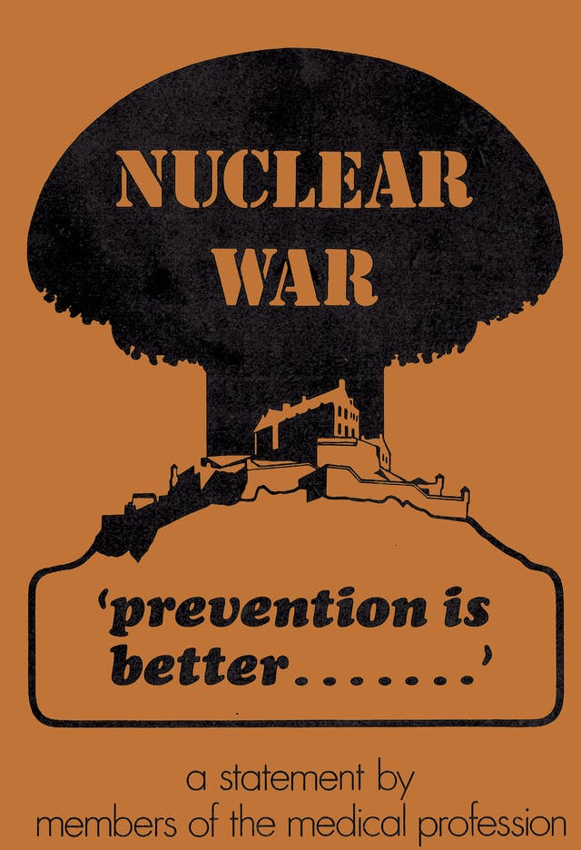 Cover of a pamphlet: Nuclear war… prevention is better