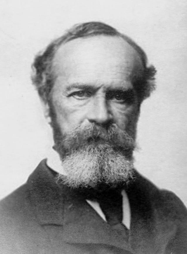 Black and white photograph of William James.