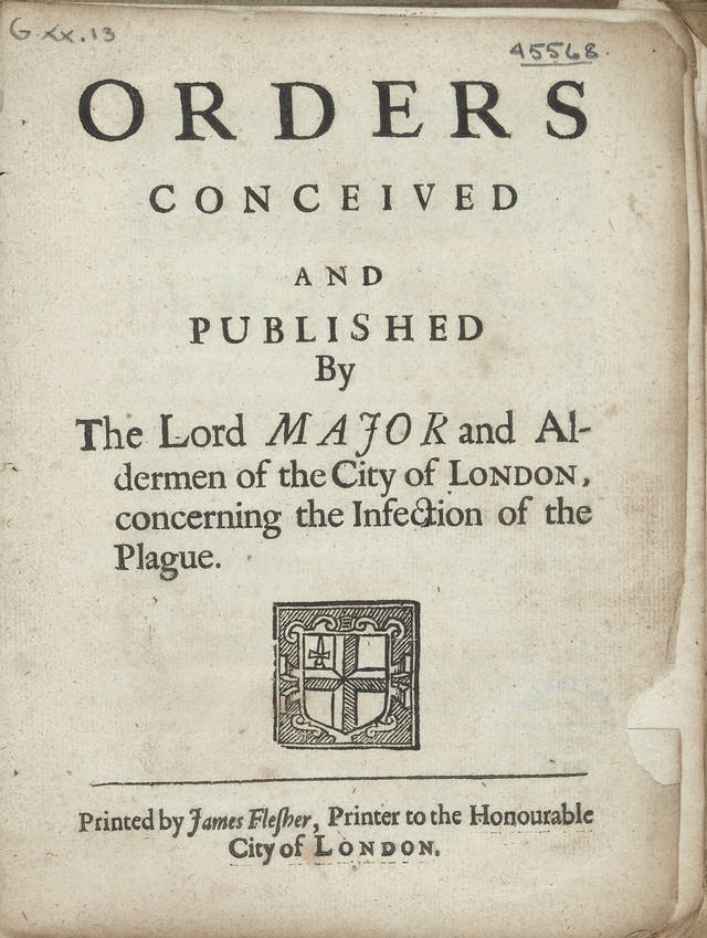 Orders conceived and published concerning the infection of the plague, 1665