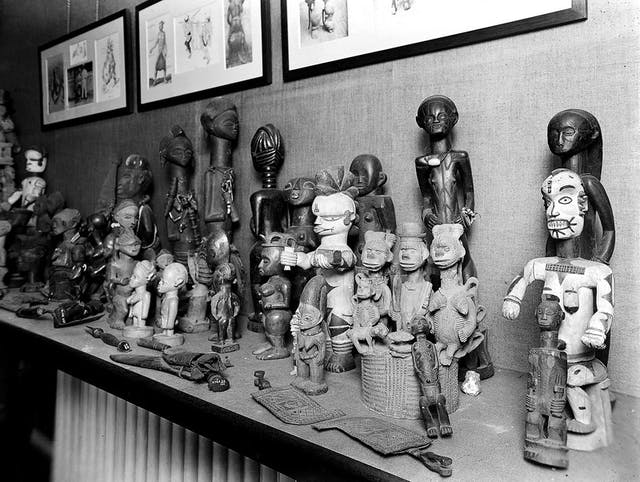 Image of ethnic statues on a shelf