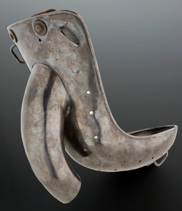 Part of male anti-masturbation apparatus, probably late 19th or early 20th century