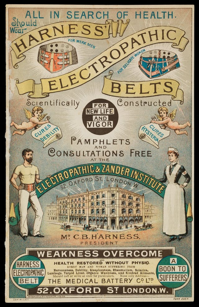Image of poster for electropathic belts.
