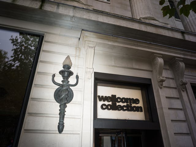 Lamp outside Wellcome Collection is a stylised caduceus