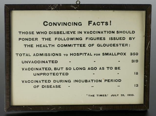 Poster advocating vaccination against smallpox, 1923