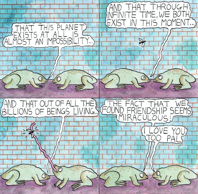 Friendship comic by Rob Bidder