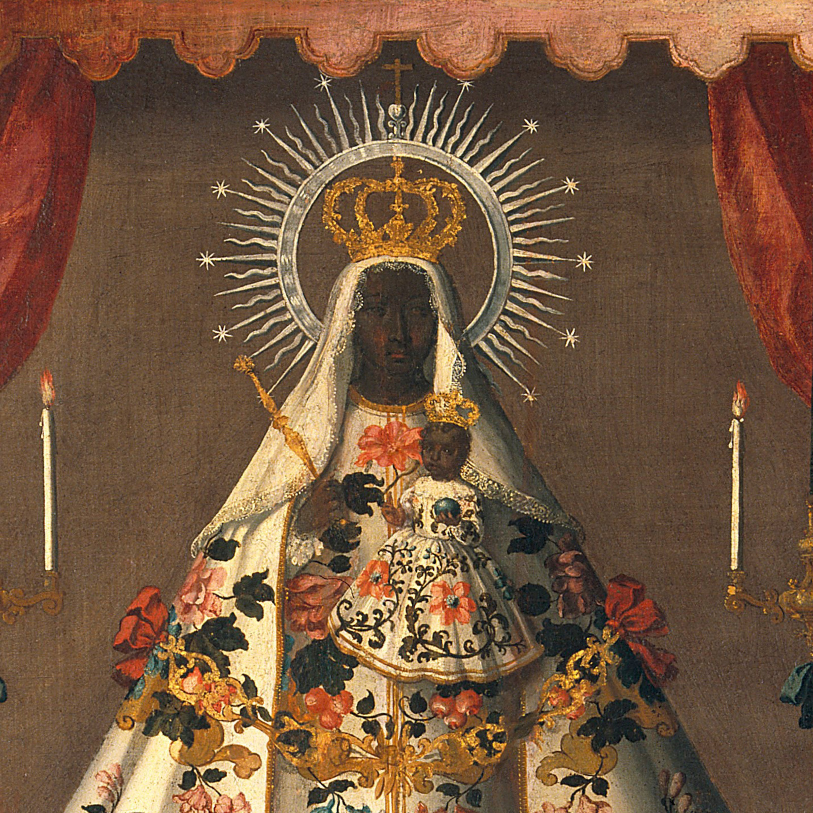 Painting of Our Virgin and Child of Guadalupe displayed in Medicine Man Gallery, bought by Henry Wellcome before 1936, the year of his death