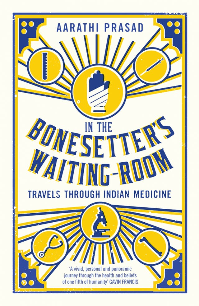 Image of the yellow and blue front cover of the book,