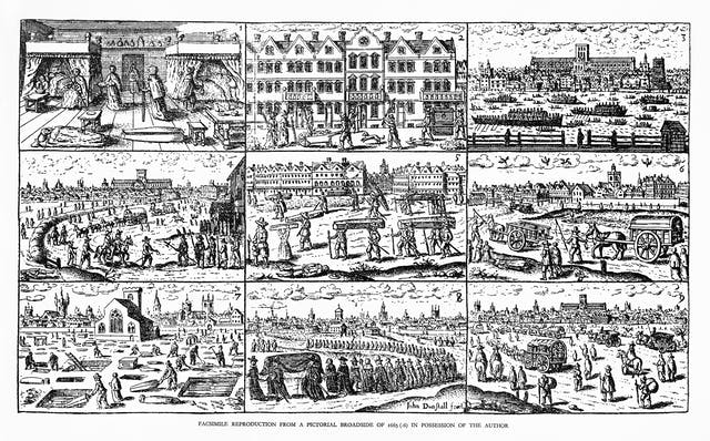 The 1665 plague in London