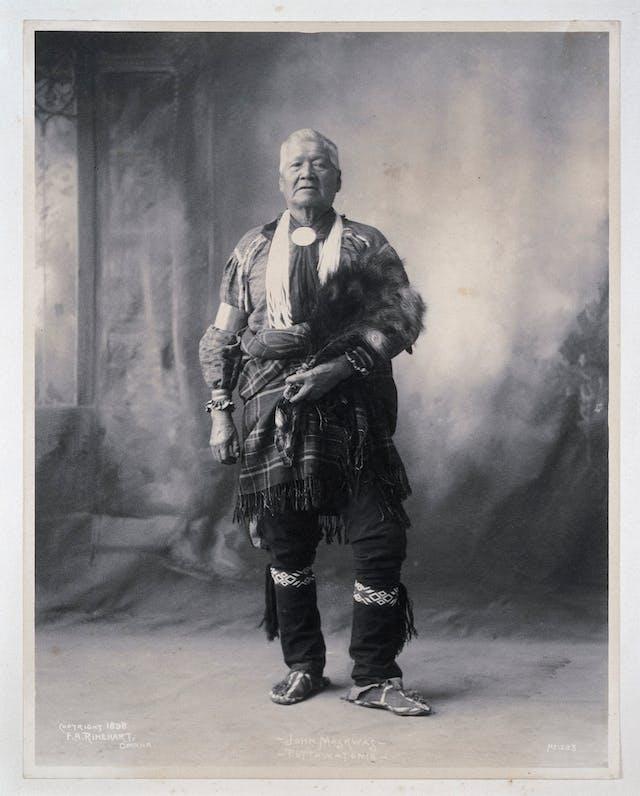 Portrait of John Maskwas, a Potawatomi Indian, c 1898