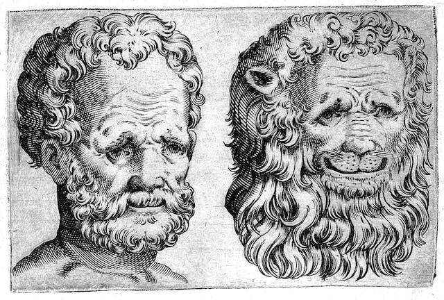 Comparison of man and lion, Giovanni Battista della Porta, 'De humana physiognomonia', 1586