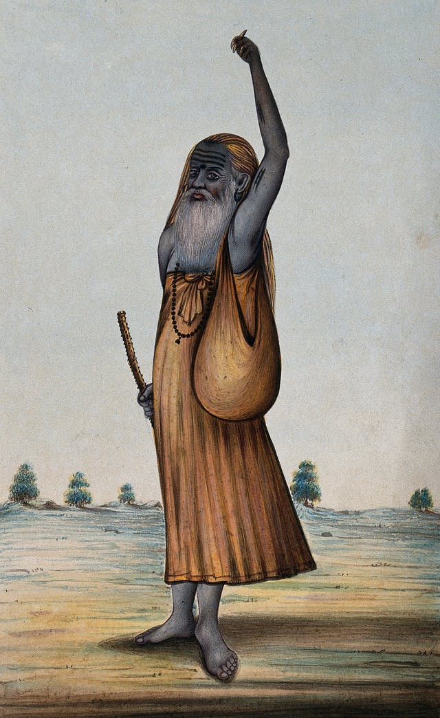 Old Hindu ascetic or holy man