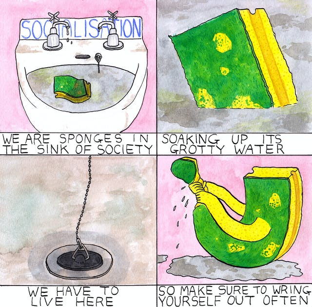Socialisation comic by Rob Bidder