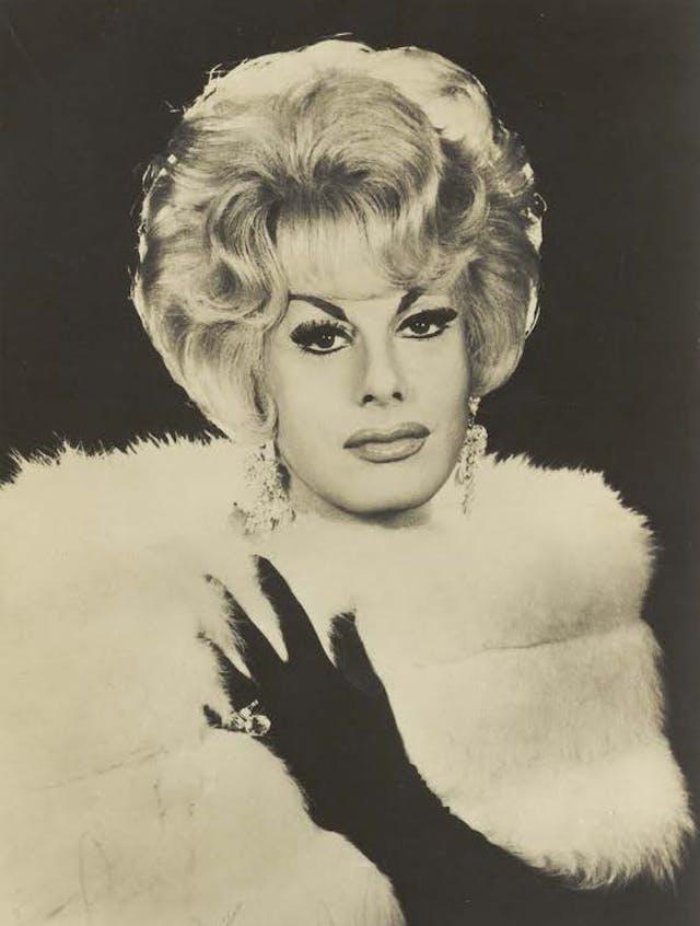 Danny La Rue in drag, photograph, c.1960-69