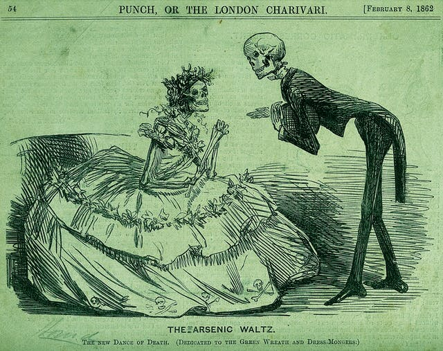 The new dance of death. (Dedicated to th egreen wreath and dress-mongers.)
