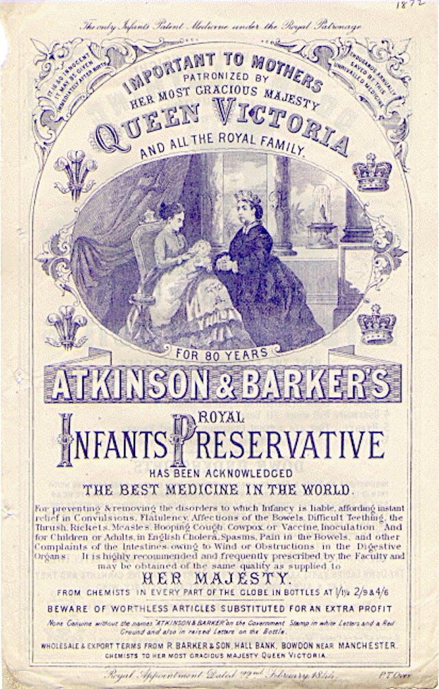 Advert for Royal Infants Perservative