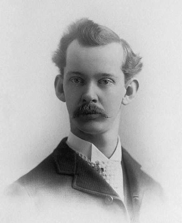 Black and white photographic image of Wilbur Schoville