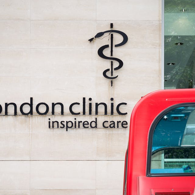 Sign for the London Clinic