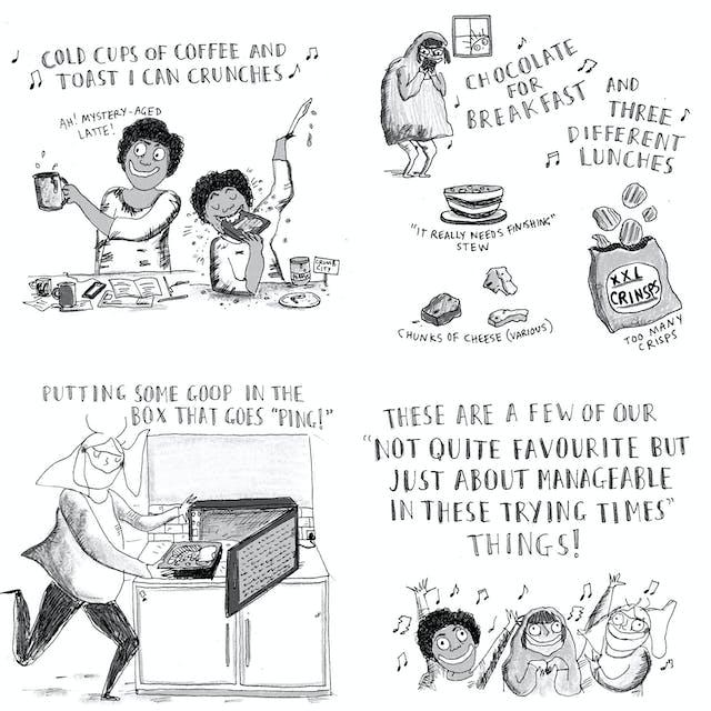 Web comic comprising four panels looking at human
